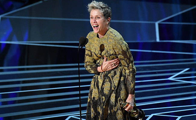 Oscars: Έκλεψαν το Oscar της Frances McDormand στο πάρτι μετά την απονομή [video]